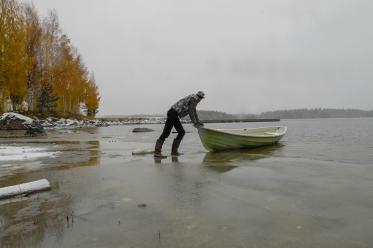 Finnish lake in autum