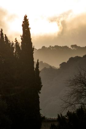 Santuari Lluc, Sierra de Tramuntana, Mallorca.