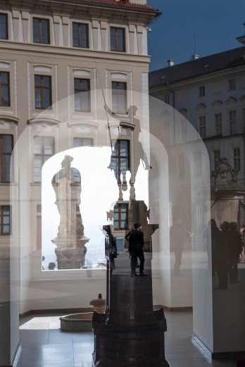 Reflections from Prague´s castle courtyard.