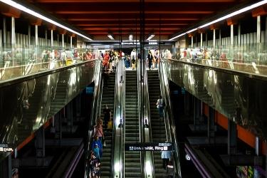 Metro station in Vienna.