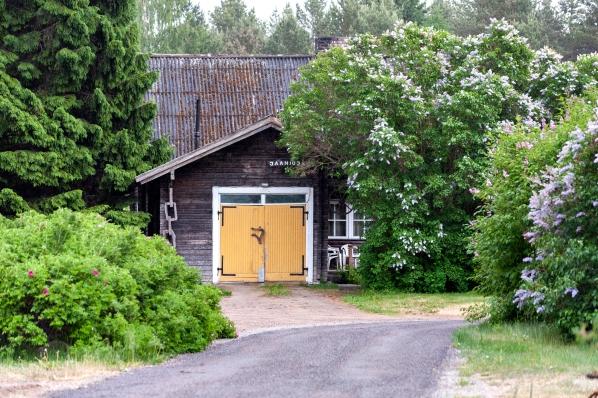 Janika Saar valmistaa uniikkeja kukkatakkeja Jaaniojan Käsitöötalussa Võsun kylässä Virossa.