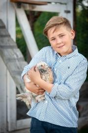 Young chicken farmer