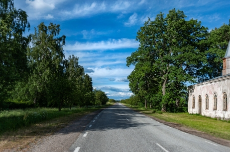 Road to Tori, South Estonia.